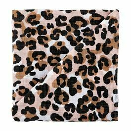 MP Muslin Swaddle Blanket Leopard
