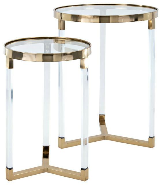 NK Verill Acrylic Glass Table Large