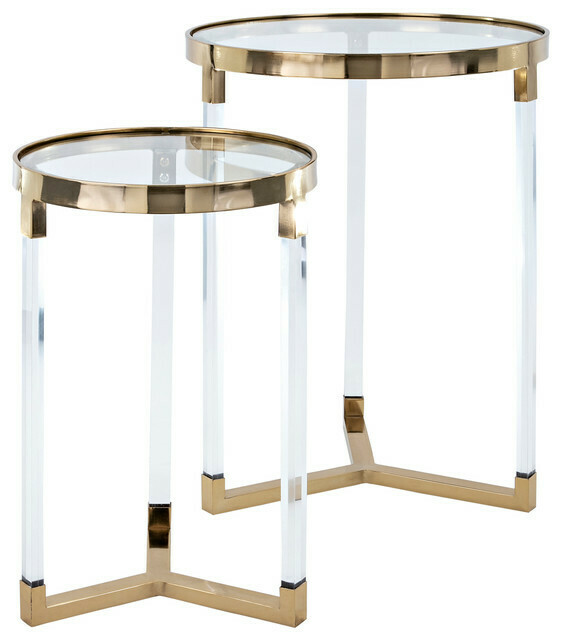 NK Verill Acrylic Glass Table Large