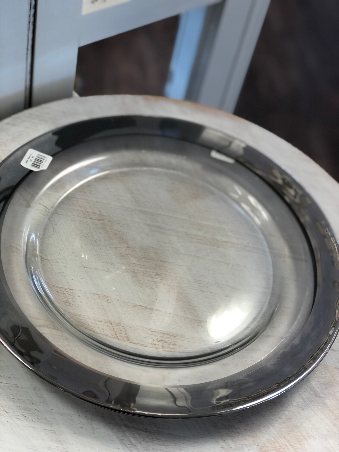 A&B Glass Charger Silver