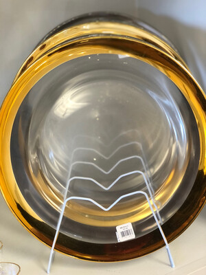 A&B Glass Charger Gold