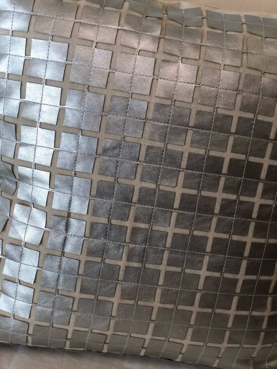 SS Silver Leather Square