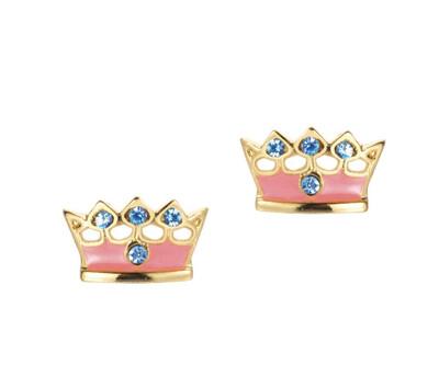 Crown Studs Pink