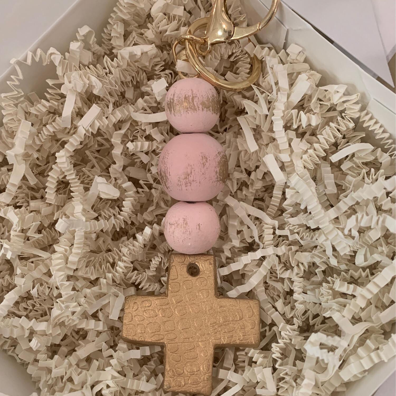 BSD Keychain Pink Cross