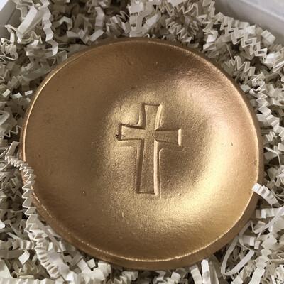 BSD Blessing Bowl Gold Cross