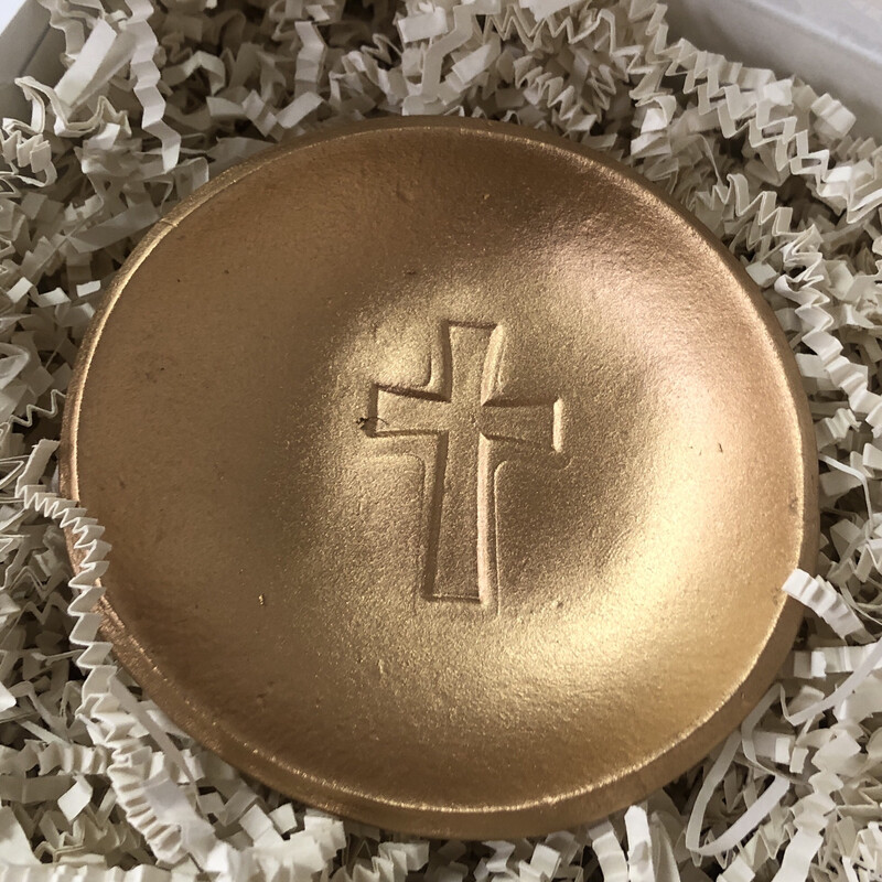 BSD Blessing Bowl Gold Cross