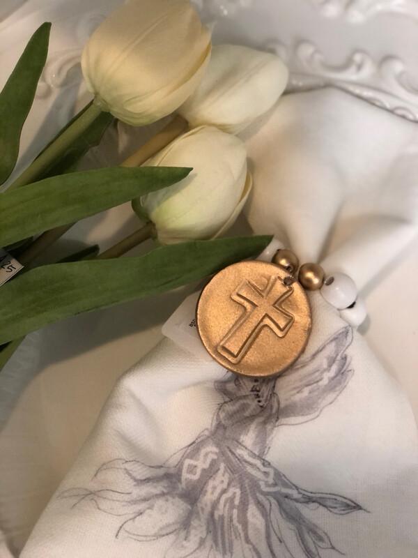 BSD Napkin Ring Stamped Cross
