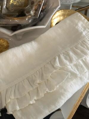 SS 13067 Ruffled Linen Table Runner