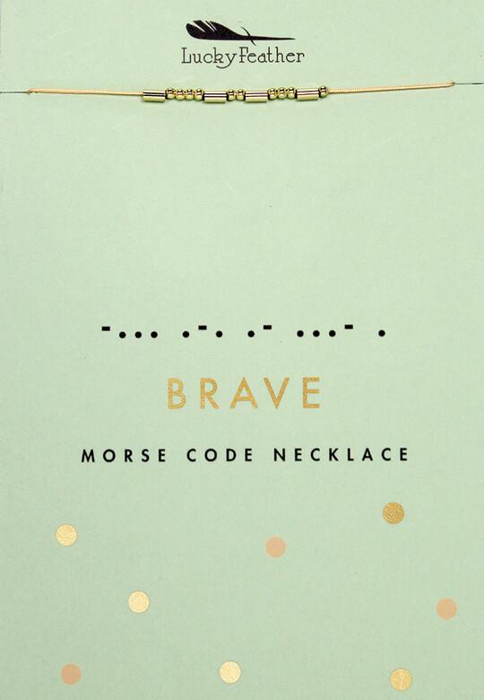 LF Necklace Morse Code Brave