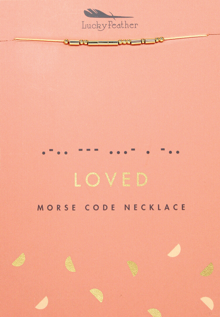 LF Necklace Morse Code Loved