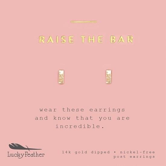 LF Earrings Raise The Bar