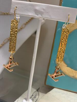 Designer Earrings Long Dangles LV
