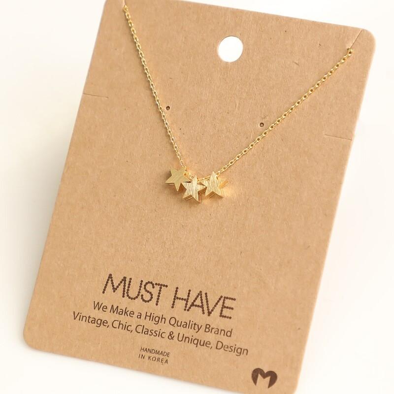 FA Necklace Triple Star