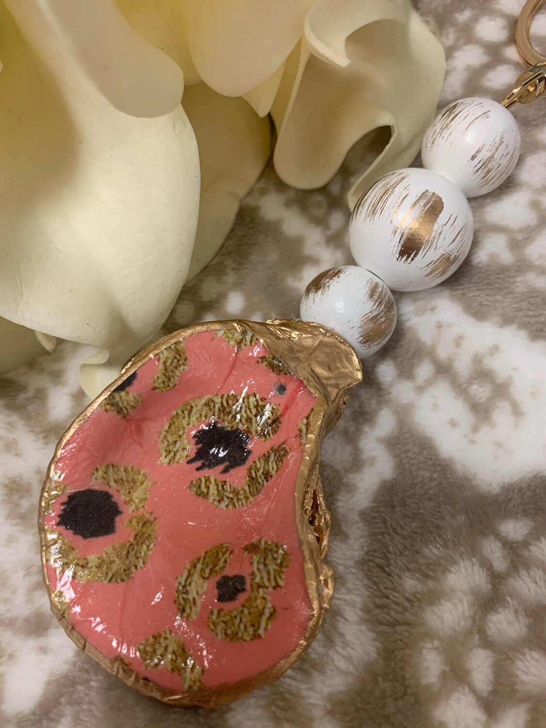 BSD Keychain Oyster Pink Leopard