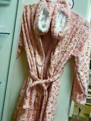 Heart Robe & Slipper Set