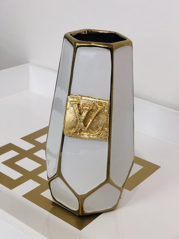 Designer Geometric Vase LV