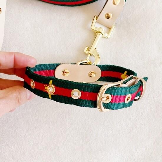 E & L Designer Inspired Leash/Collar Set MEDIUM