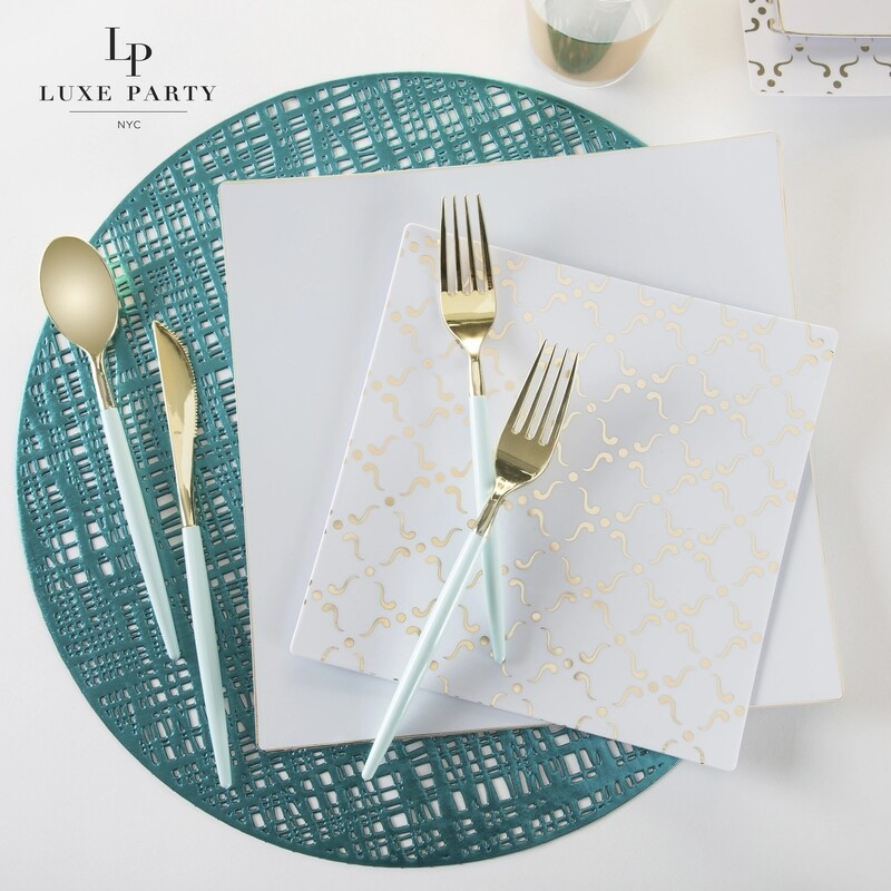 Luxe Flatware Set Mint