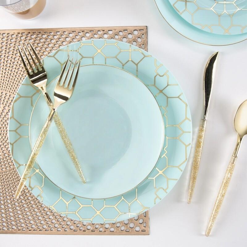 Luxe Dessert Plates Round Mint