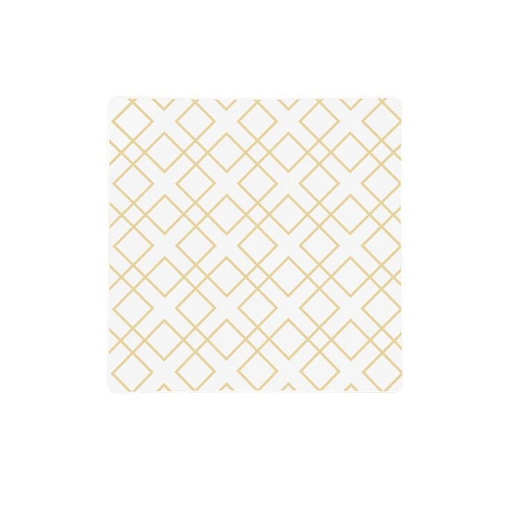 Luxe Dinner Plates Square Gold Pattern