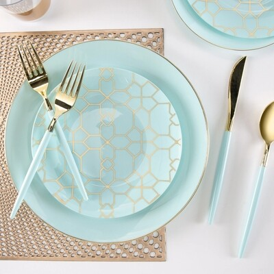 Luxe Dinner Plates Round Mint
