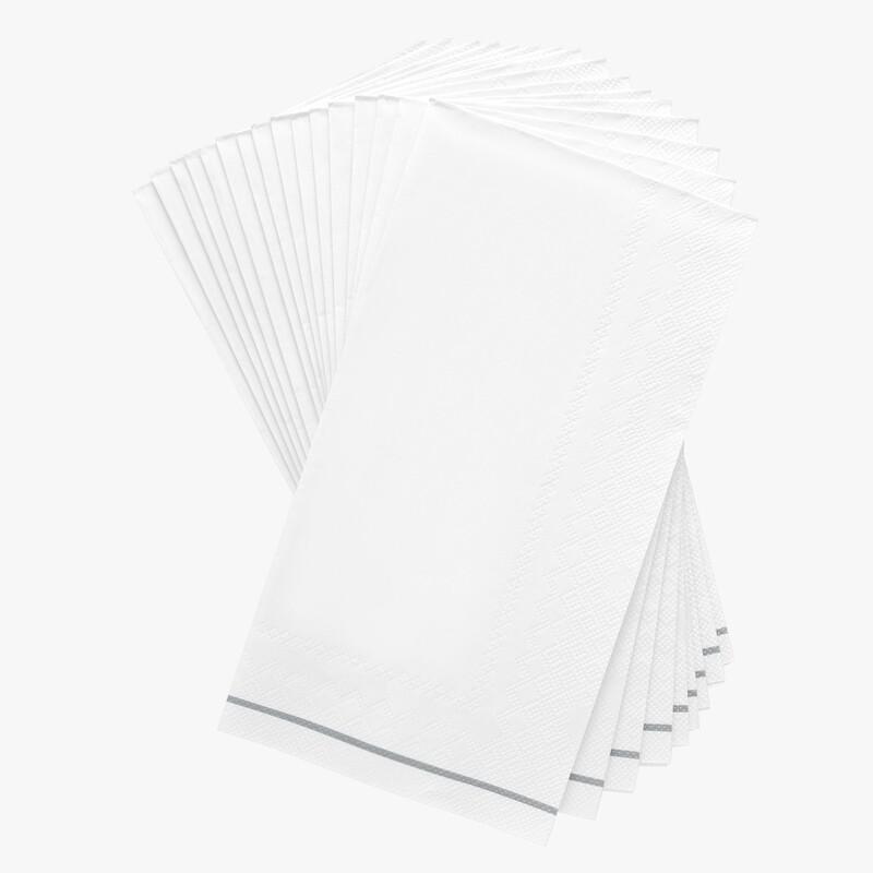 Luxe Buffet Napkins Silver Stripe