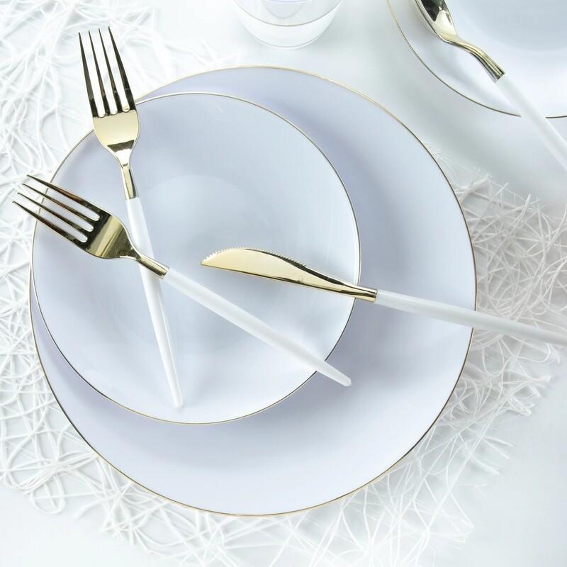 Luxe Dessert Plate Round White
