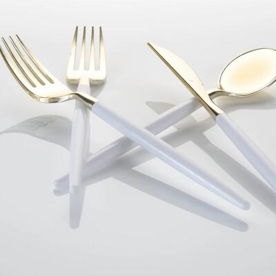 Luxe Flatware Set White