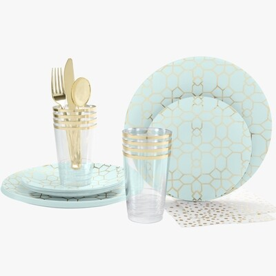 Luxe Party Pack Mint/Gold Pattern