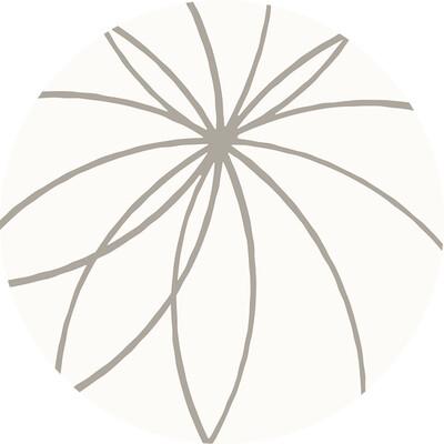 A&A Coaster Set Grey Flower