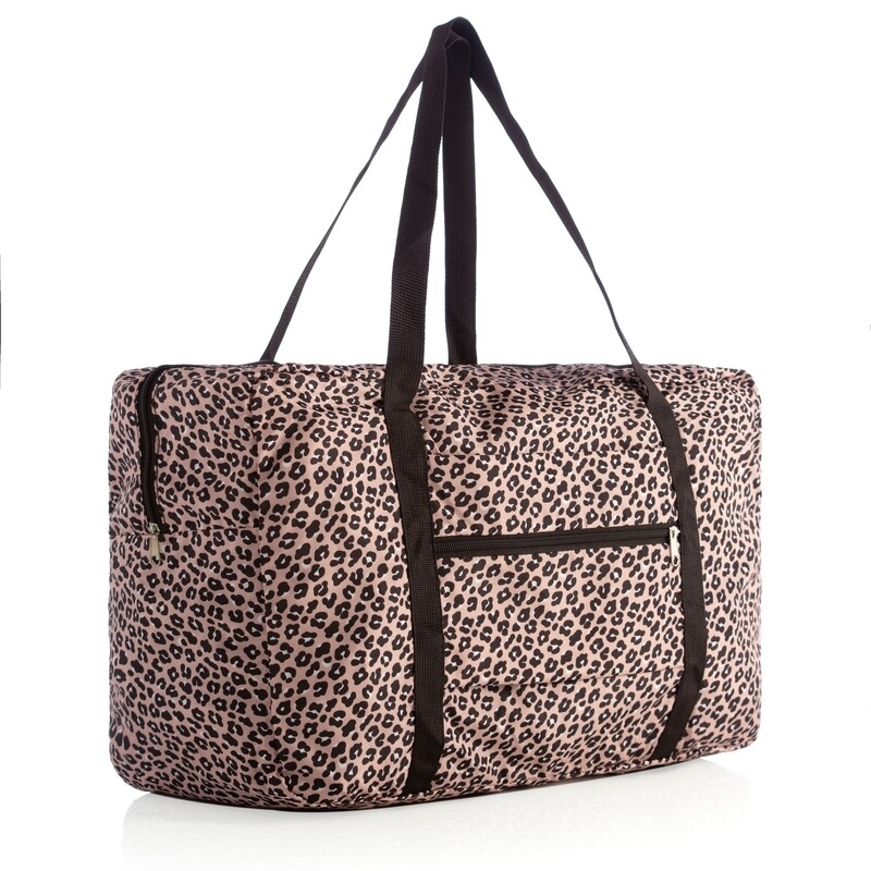 SC Leopard Foldable Travel Bag