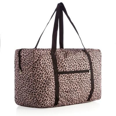 SC Leopard Foldable Travel Bag