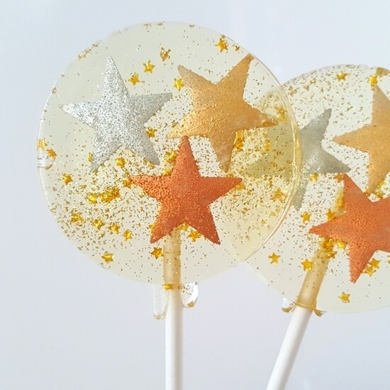 SC Metallic Stars Lollipop Champagne