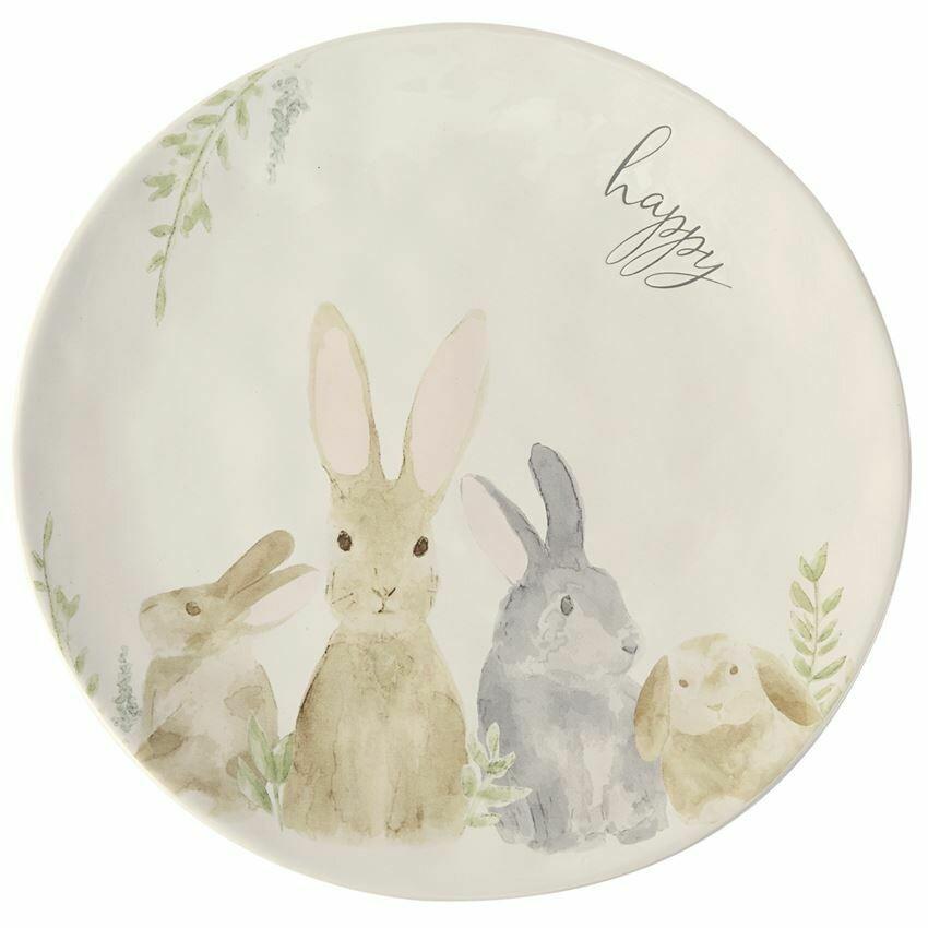 Watercolor Bunny Platter