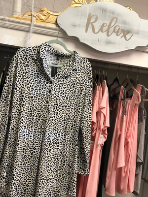 Leopard Sleep Shirt LARGE