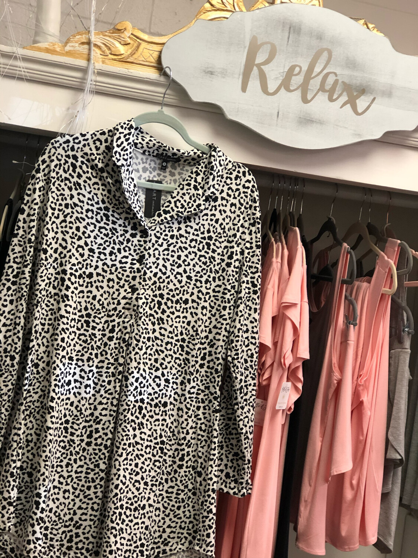 Leopard Sleep Shirt MEDIUM
