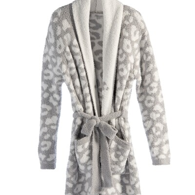 SC Robe Grey Leopard