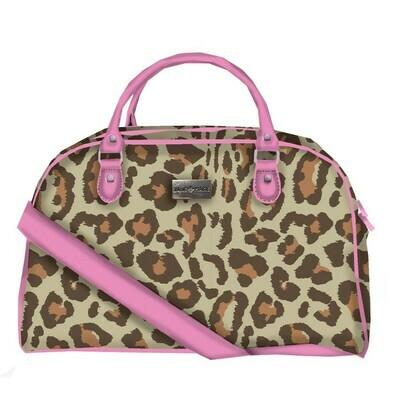 JM Pink Leopard Overnight Bag
