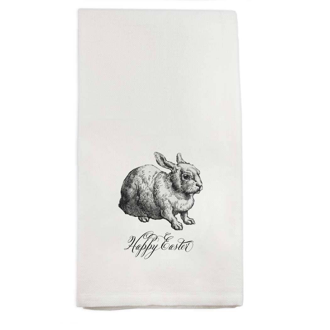 FG Cotton Towel Gray Sitting Bunny