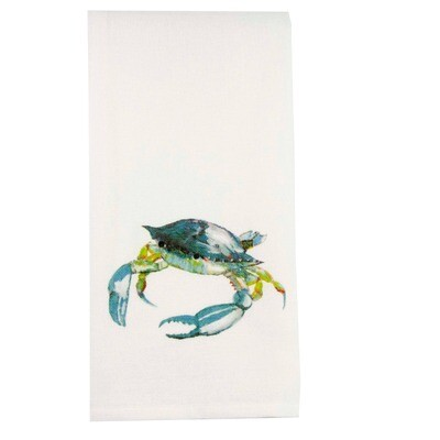 FG Cotton Towel Blue Crab