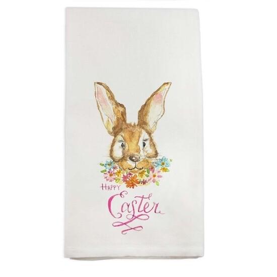FG Cotton Towel Bunny Flowers