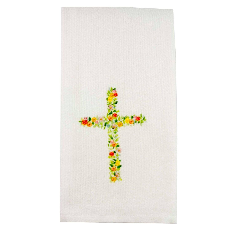 FG Cotton Towel Flower Cross