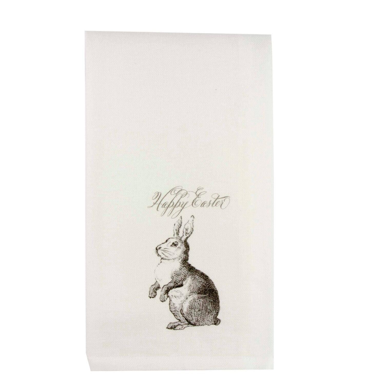 FG Cotton Towel Gray Standing Bunny