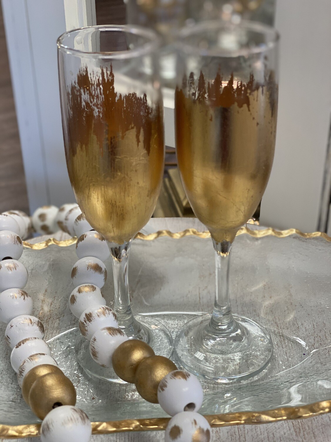 Gilded Champagne Glass