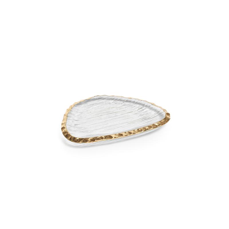 Gold Edge Organic Shape Plate Small
