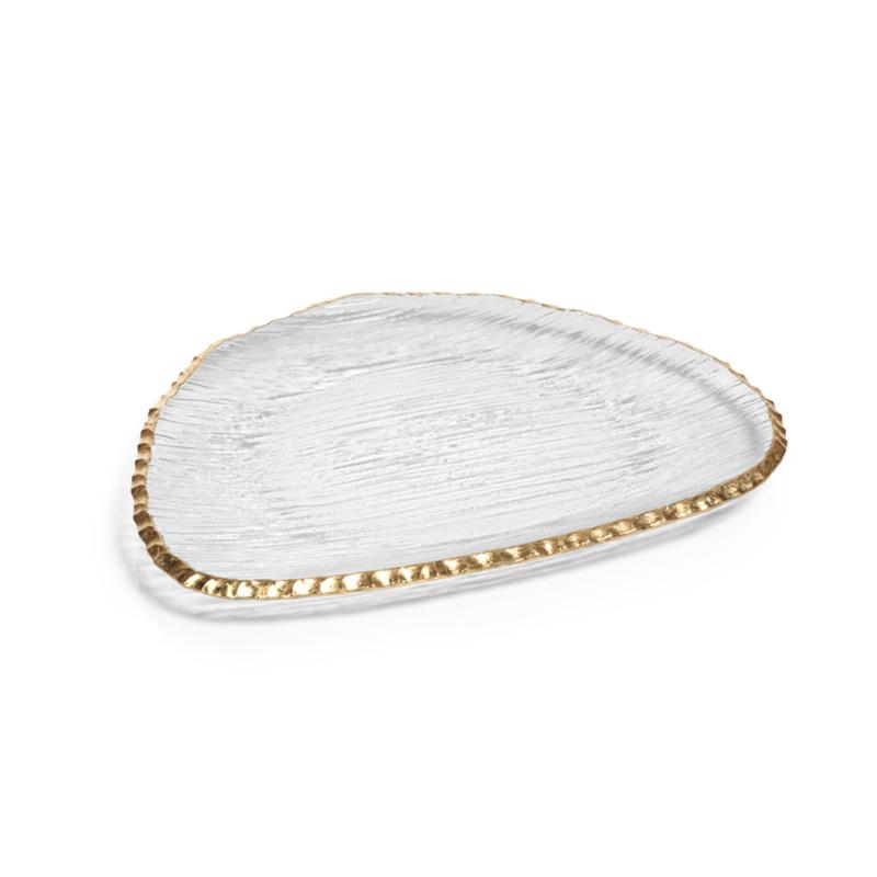 Gold Edge Organic Shape Plate Large