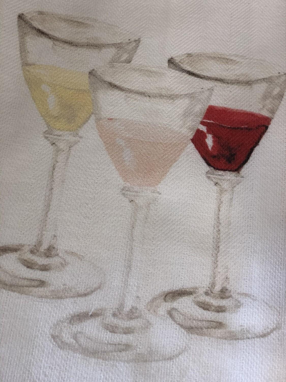 FG Cotton Towel Wine Glasses
