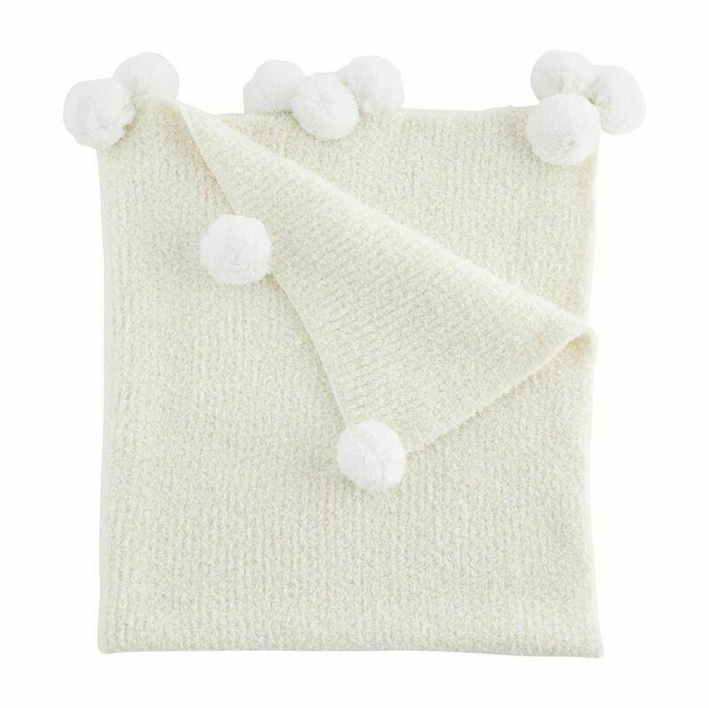 Chenille Baby Blanket White