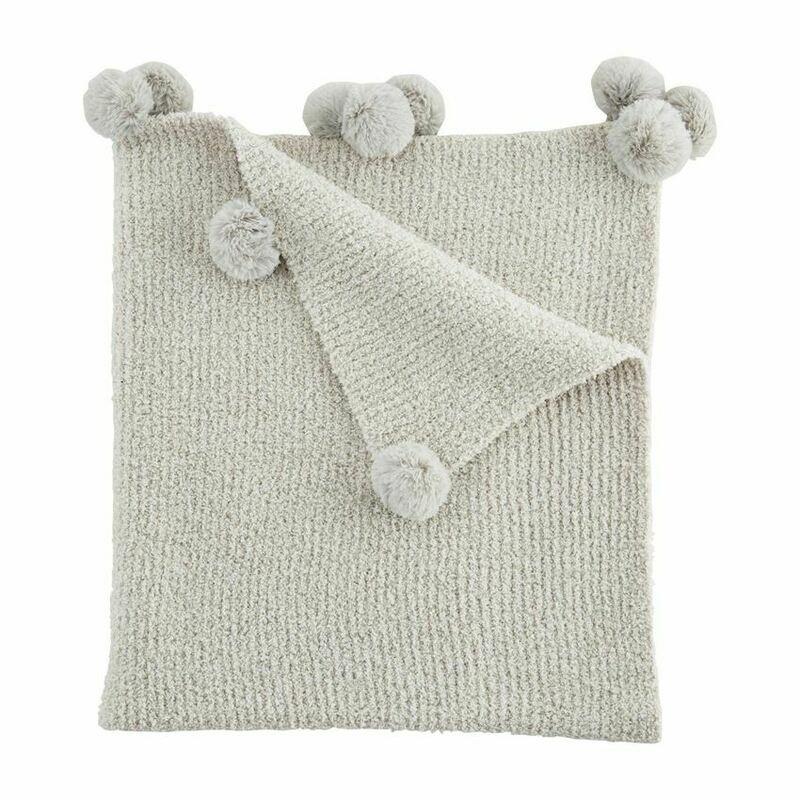 Chenille Baby Blanket Gray