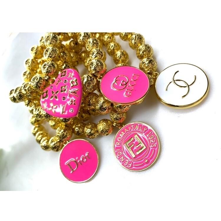 SJ Inspired Bracelet Hot Pink Dior